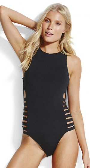 Seafolly Active Multi Strap High Neck Maillot One Piece Swimsuit