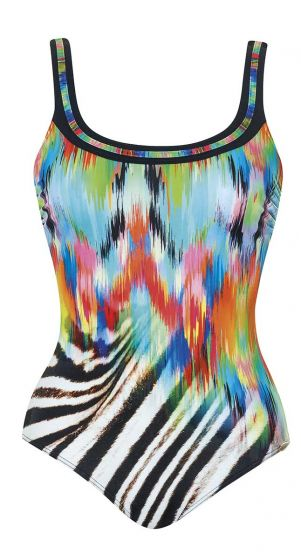 Sunflair D Cup Painted Curl One Piece