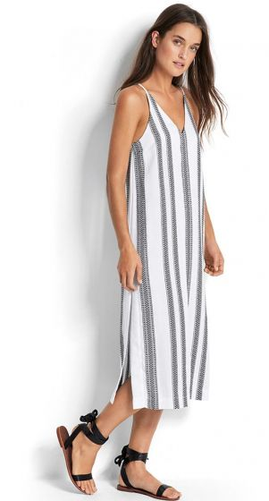 Jacquard Stripe Dress