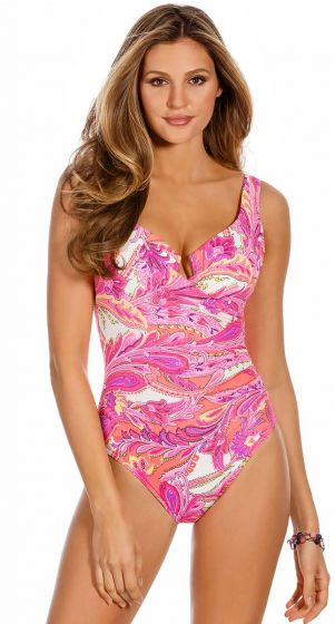 Miraclesuit Persian Gardens Escape Multi Body Shaping Swimsuit