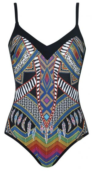 Sunflair Pearly Fun F Cup V Neck One Piece