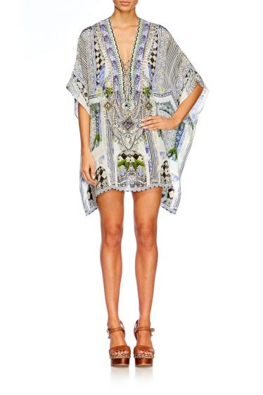 Camilla The Sweet Escape Short Lace Up Kaftan