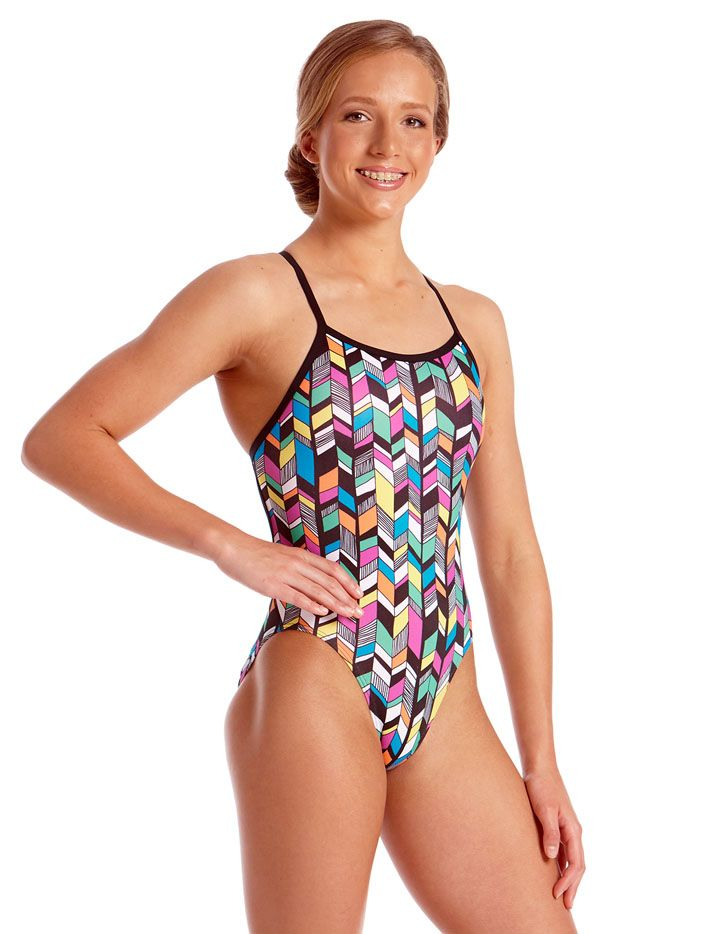 147200cc54b21 Amanzi Young Girls Chlorine Resistant Trellis One Piece Swimsuit