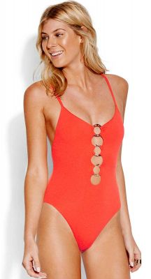 Seafolly Active Ring Front Maillot One Piece Swimsuit