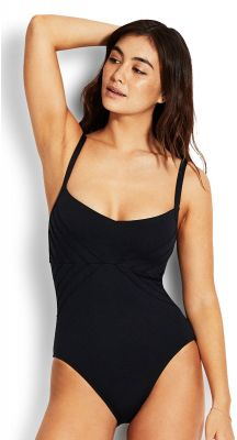 Seafolly Seafolly Pintucked DD Cup Maillot One Piece Swimsuit