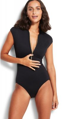 Seafolly Seafolly Zip Front Maillot
