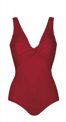 Sunmarin D Cup Fitting Twist Front One Piece Swimsuit
