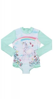Seafolly Girls Mystical Garden Unicorn Long Sleeve Surf Tank