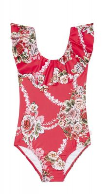 Seafolly Girls Little Village in Como Ruffle Tank