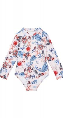 Seafolly Girls Water Garden Long Sleeve Surf Tank