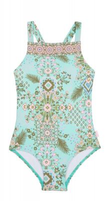 Seafolly Girls Mini Me Folk Floral Border Tank