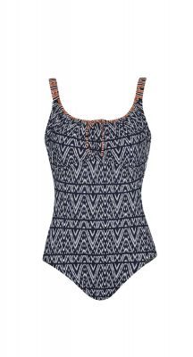 Sunflair Blue Orleans Round Neck One Piece Swimsuit (suitable for mastectomy)