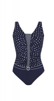 Sunflair Blue Summer One Piece Swimsuit ( suitable for mastectomy)