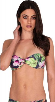 Monte + Lou Jungle Bloom Tie Front Bandeau