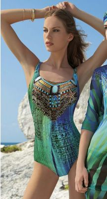 Sunflair Mumbai Calling D Cup double strap one piece with soft cups