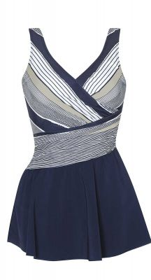 Sunflair D Cup Lady In Blue Skirted One Piece