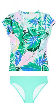 Seafolly Girls Miami Vice Short Sleeve Surf Set