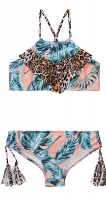 Seafolly Girls Native Jungle Ruched Neck Tankini