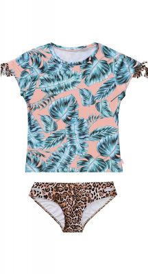 Seafolly Girls Native Jungle Short Sleeve Surf Set
