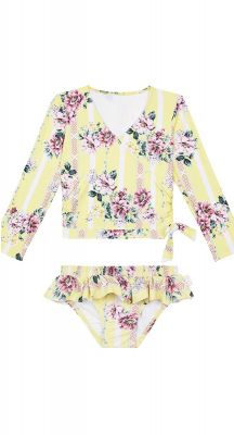 Seafolly Girls Nannas House Long Sleeve Rashie Set