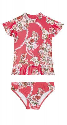 Seafolly Girls Little Village in Como Short Sleeve Rashie Set