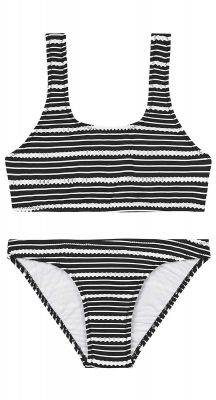 Seafolly Girls Tahitian Skies 80s Stripe Tankini