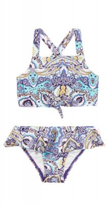 Seafolly Girls Mini Me Summer Chintz Frill Tankini