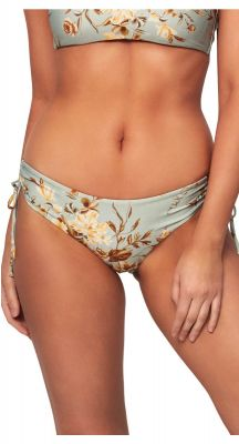 Monte + Lou Wild Rose Ruched Side Hipster Bikini Pant