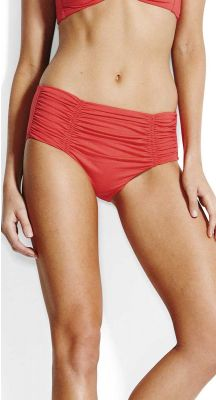 Seafolly Solids Gathered Front Retro Bikini Pant