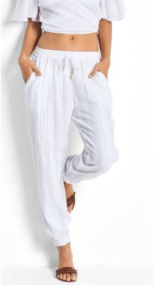 Seafolly Ladies Beach Basics Washed Dobby Beach Pant