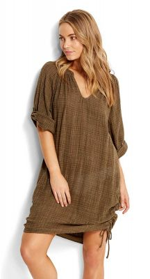 Seafolly Sahara Nights Textured Gauze Kaftan