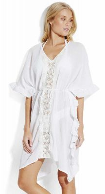 Seafolly Beach Basics Lace Trim Kaftan