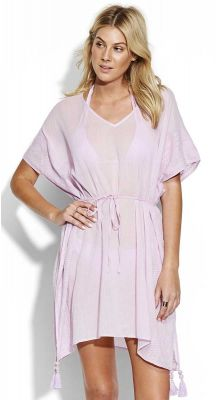 Seafolly Modern Art Shadow Embroidered Kaftan