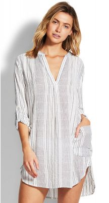 Seafolly Beach Edit Mona Stripe Cover up