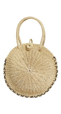 Seafolly Carried Away Round Beach Basket
