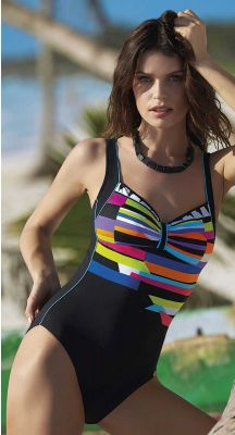 Sunflair D Cup Sunny Stripes Swimsuit With Soft Cups