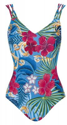 Sunflair Blue Henry E Cup V Neck One Piece