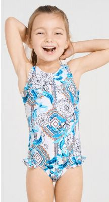 Aqua Blu Kids Wedgewood Frill One Piece