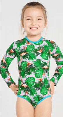 Aqua Blu Kids Paradiso Long Sleeve One Piece