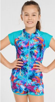 Aqua Blu Kids Moana Short Sleeve Rash Vest