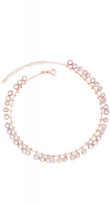 aegeanblue drops from heaven anklet handcrafted in 925 sterling silver and rose gold
