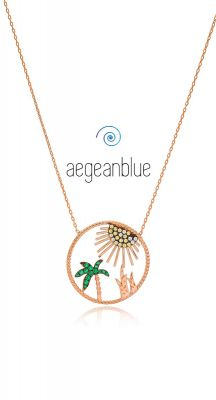 aegeanblue party island necklace