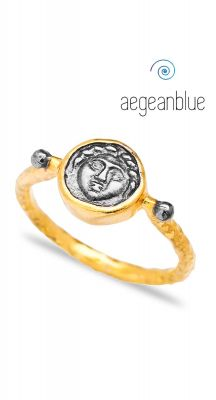 aegeanblue Vintage Medallion Ring