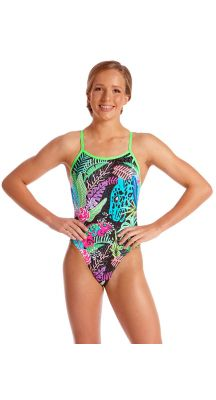 Amanzi Young Girls Chlorine Resistant Chameleon One Piece Swimsuit