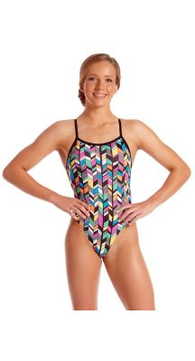 Amanzi Young Girls Chlorine Resistant Trellis One Piece Swimsuit