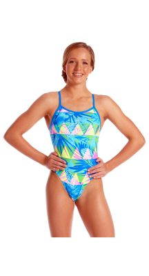 Amanzi Young Girls Chlorine Resistant Sunkissed One Piece Swimsuit
