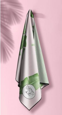 Sky Gazer Luxury beach Towel in Pouch - Balmoral