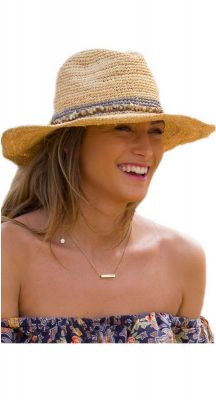 Summer Living Lux Castaway Raffia Cowboy In Taupe