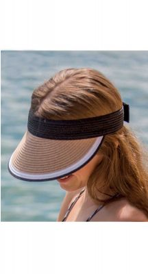 Summer Living Milla Visor In Black/Tan/White BD447