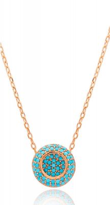 aegeanblue santorini sunset pendant handcrafted in 925 sterling silver and rose gold